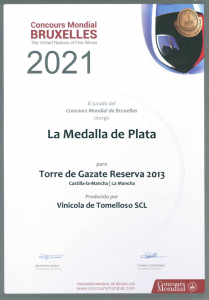 Diploma Torre de Gazate Reserva 2021